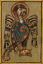 From the Book of Kells - An Eagle symbolising the Apostle John